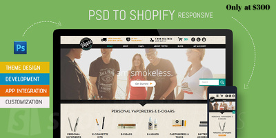 Offer PSD to Shopify Responsive theme