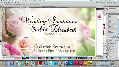 Professionally design a weeding invitation