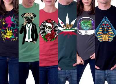 create custom Graphic Illustrations for T shirts