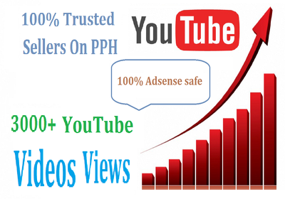Add 3000+ Plus High Retention Safe YouTube Video Views Non-Drop Guarantee