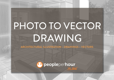 Turn any architectural photo into a vector drawing