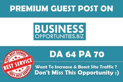Write & Publish Guest Oost on Business-opportunities, Business-opportunities.biz