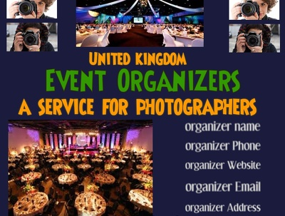 Provide you a list of 10,000 event organizers and wedding venues owners in uk