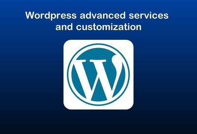 Wordpress advanced services and customization