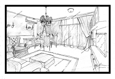 Make interior design drawing (by hand) for your appartment