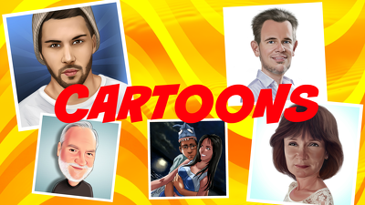 Draw a caricature or portrait from your photo