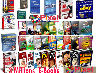 Give  3 Million PLR ebooks Collections and Articles,with Master Resell Right