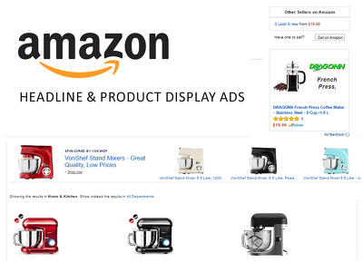Create 5 Amazon Headline Search &  5 Product Display Ads