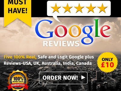 GIVE 5 awesome customised Google Plus Local Reviews to rocket your SEO.