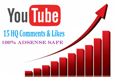Do 15 High Quality Manual YouTube Comments and Likes On Your Videos