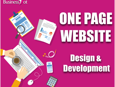 Develop & design one page website