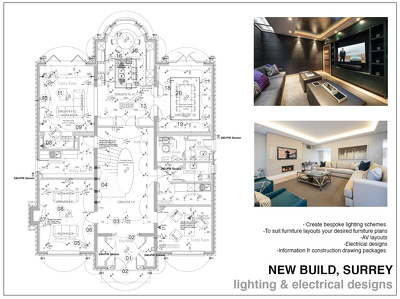 Produce a lighting &  electrical plan x 1