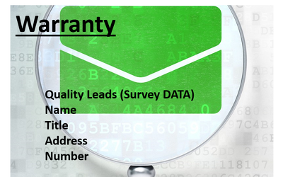 Provide 200 quality leads for Washing Machine Warranty (1-6 Month OLD)