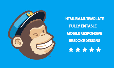 Design and code a fully responsive editable HTML email template