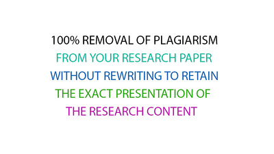 100% removal of plagiarism from up to 1000 words research paper