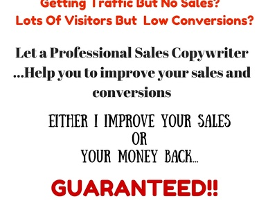 Improve conversions and sales for your website
