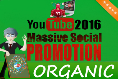 Youtube Video Organic Social and Embeds Promotion to get you organic views, likes etc