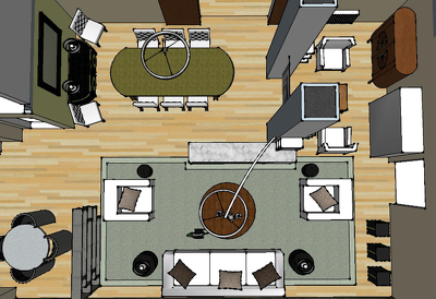 Convert your 2D plan or sketch into a 3D image using Sketchup