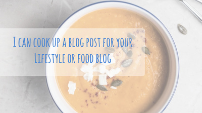 Cook up a 500 word blog post for your lifestyle/food/health and nutrition blog