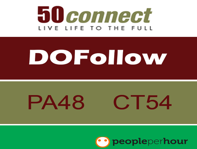 Write & Publish a guest post on 50connect.co.uk (500+ content) with Dofollow Link
