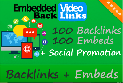 get you youtube SEO backlinks and embeds