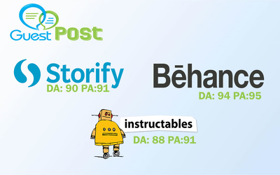 Write & publish on Storify |  Instructables |Behance