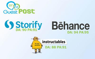 Write & publish on Storify |  Instructables |Behance