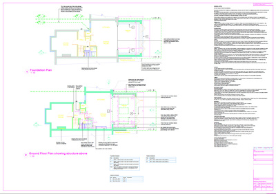 Full set of Building Regulations structural drawings and calculations