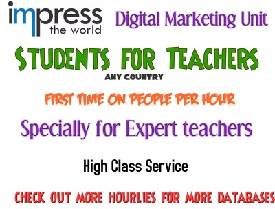 Provide you 1000 students from any country as per targeted subject