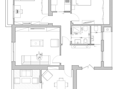 Draw a floor plan for your needs from pdf or hand sketches using AutoCAD or ArchiCAD
