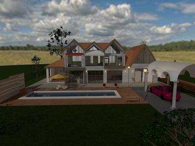 Do the exterior and the interior of your desired building designed and rendered
