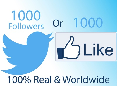 Add 1000 Social Media Fans Or Add 1000 Twitter Followers To Increase Your SEO