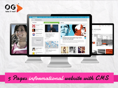 Create 5 Pages informational website with CMS