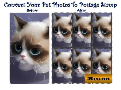 Postage Stamp Style Photo Designs