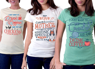 Create Typography designs for T Shirt