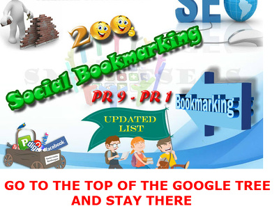 Create Manual Social bookmarking upto 200 sites PR 9 to3 and 20 Directory Submissions