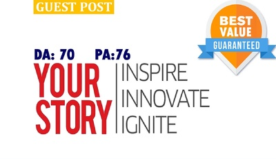 Guest post on YourStory.com | YourStory | DA70 PA76