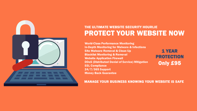 Provide full website security for your site with 24/7 monitoring and unlimited fixes