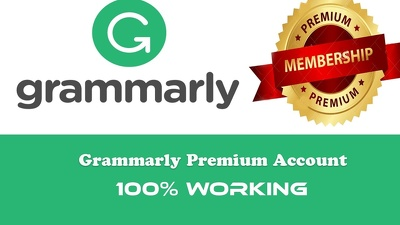 Give you working Grammarly Premium Account