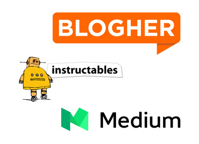 Guest post on blogher, instructables, medium.com