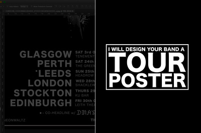 Design your band a tour/concert poster