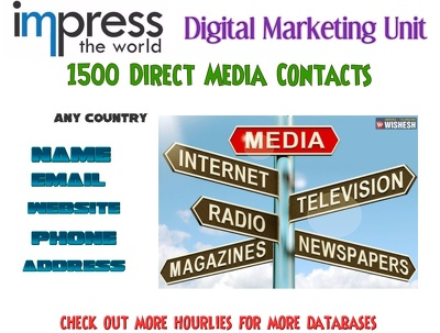 Provide you    Media  List Direct Contact Details any country