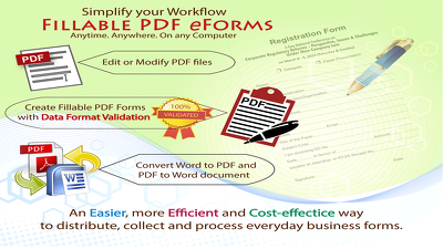 Design/create fillable validated data PDF form in 3 day for $40