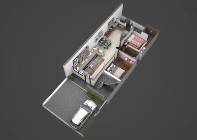 Render 3D floorplan (with Realistic Render ) 4K Render
