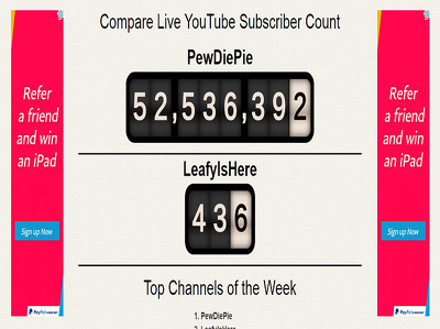 """ Live YouTube "" Subscriber Count"