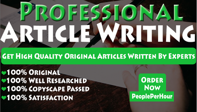 Write a Top Quality Article of 700 Words On Any Topic
