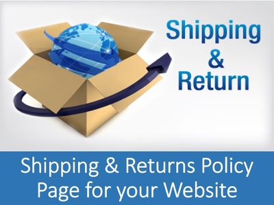 Draft a Shipping and Returns Policy Page for your Ecommerce Website