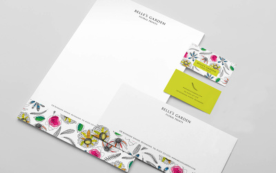 Design your business stationery - business card, letterhead and compliment slip