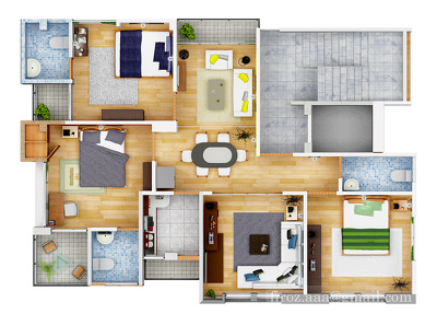 Design your 3D Architectural Visualization Interior and Exterior