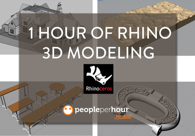 Provide 1 hour of Rhino 3D modeling for architecture, furniture, abstract, or product
